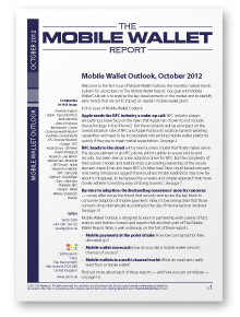 Mobile Wallet Outlook, October 2012