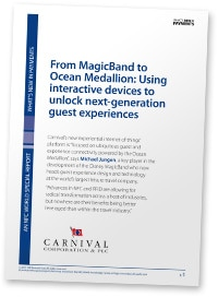 """Cover: """"From MagicBand to Ocean Medallion: Using interactive devices to unlock next-generation guest experiences"""""""