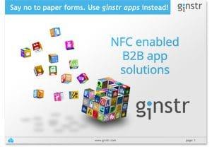 Covershot: 'Meet Ginstr: NFC Enabled B2B App Solutions'