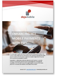 'Enhancing HCE mobile payments with TEEs' white paper covershot