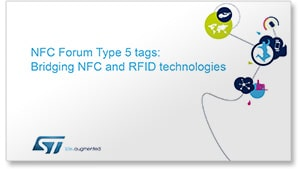 NFC Type 5: Bridging NFC and RFID slides (cover)