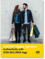 Covershot: 'TruST25 Digital Signature: Authenticity with ST25 NFC/RFID tags'