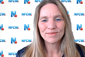 NFCW editor Sarah Clark
