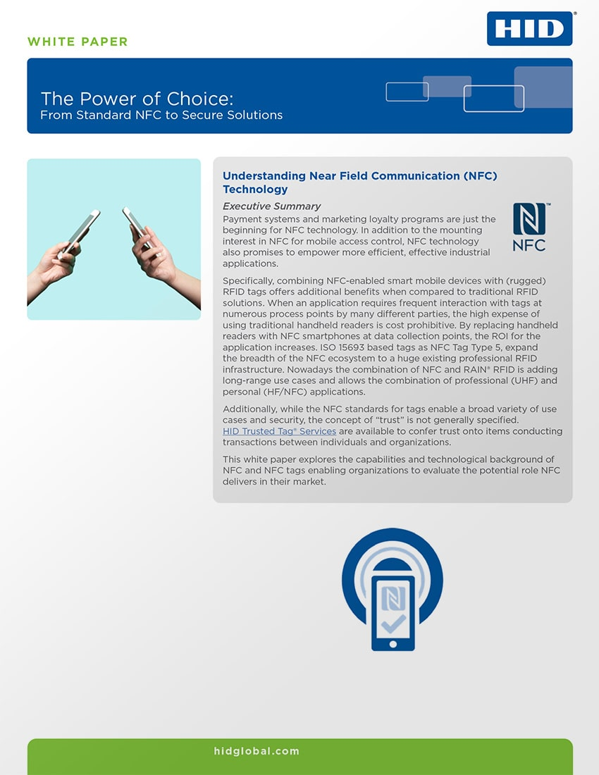 The Power of Choice: From Standard NFC to Secure Solutions