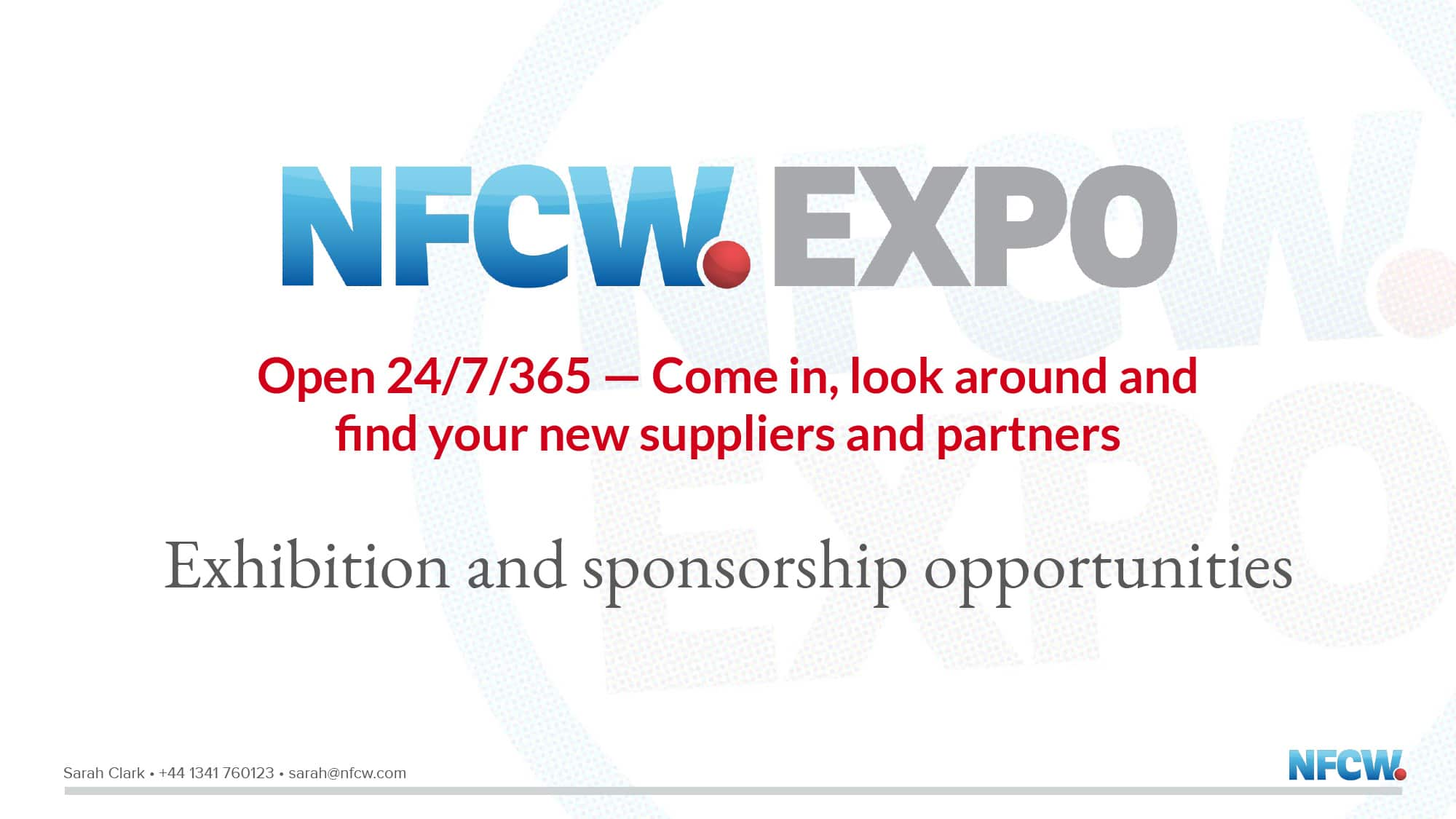 NFCW Expo slide presentation cover