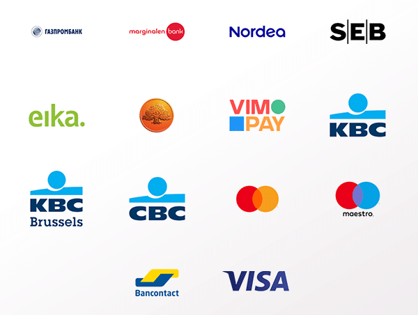Fidesmo partner financial institution logos